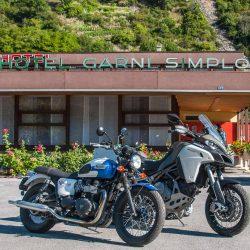 Das Hotel Garni Simplon in Brigerbad. Eine einfache aber charmante Unterkunft, in der Motorradfahrer herzlich willkommen sind.