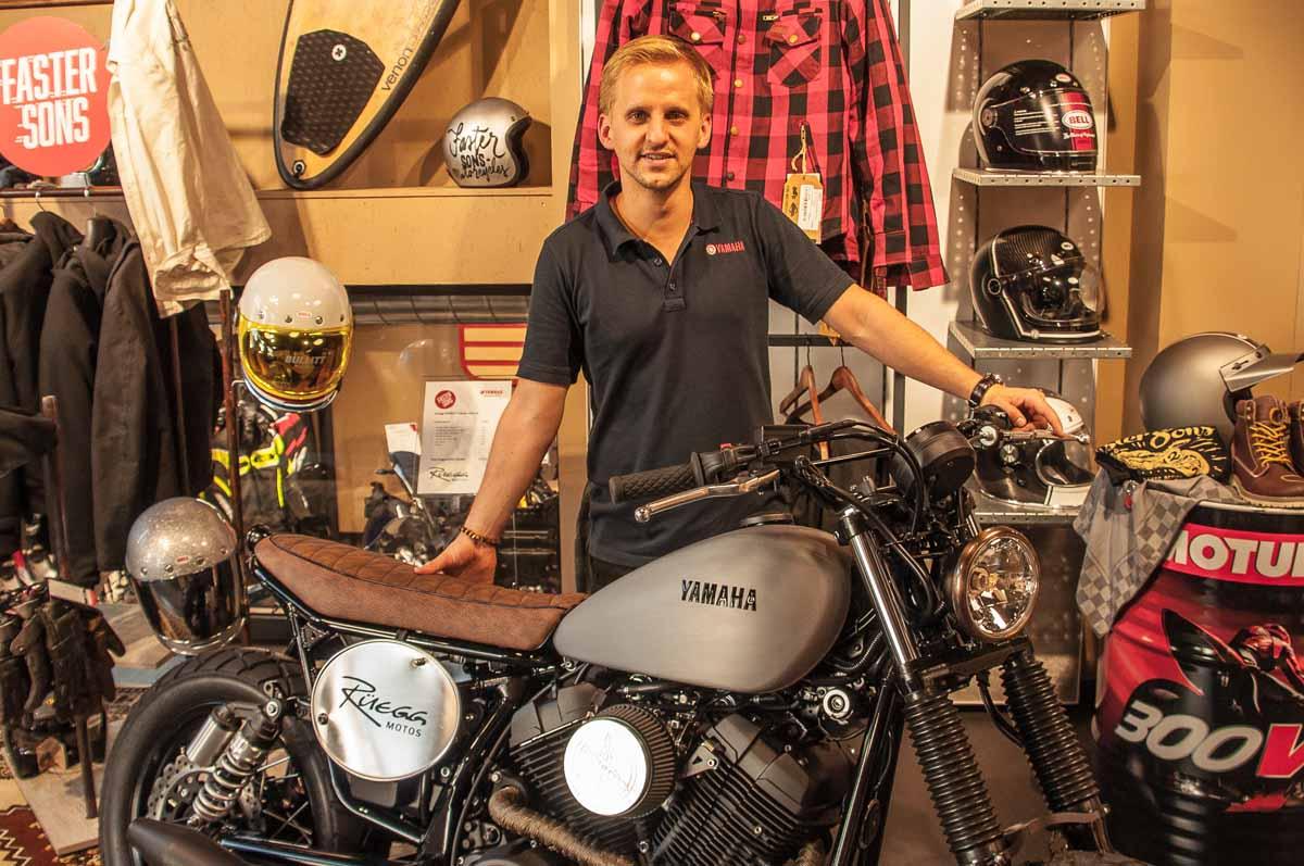 Sandro Rüegg, seit 2015 Inhaber und Geschäftsführer von Rüegg Motos in Zürich.