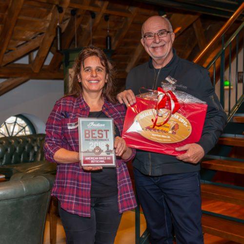 Claudia Faust und James Müller von American Bikes AG, Bütschwil