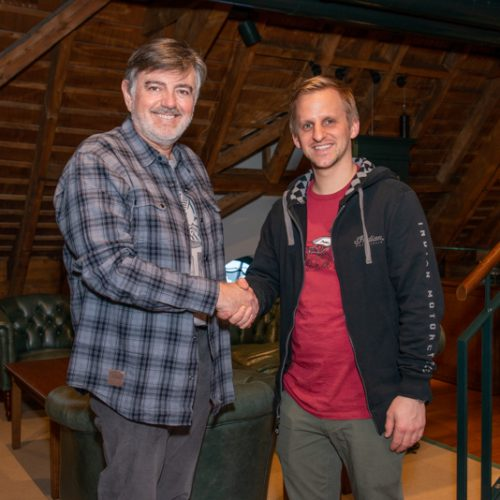 Stefan Vogel (Simota GmbH) und Sandro Rüegg von Rüegg Motos, Zürich