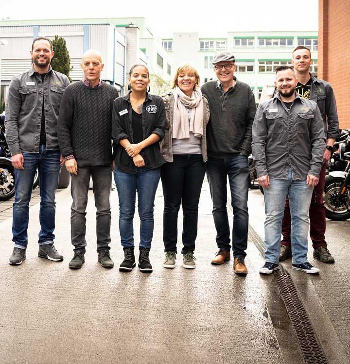 v.l.n.r.: Michel Moser, Konrad Hess, Jasmin Hess, Gerlinde Hess, Wolfgang Hess, Michel Schneider, Jeff Helbling