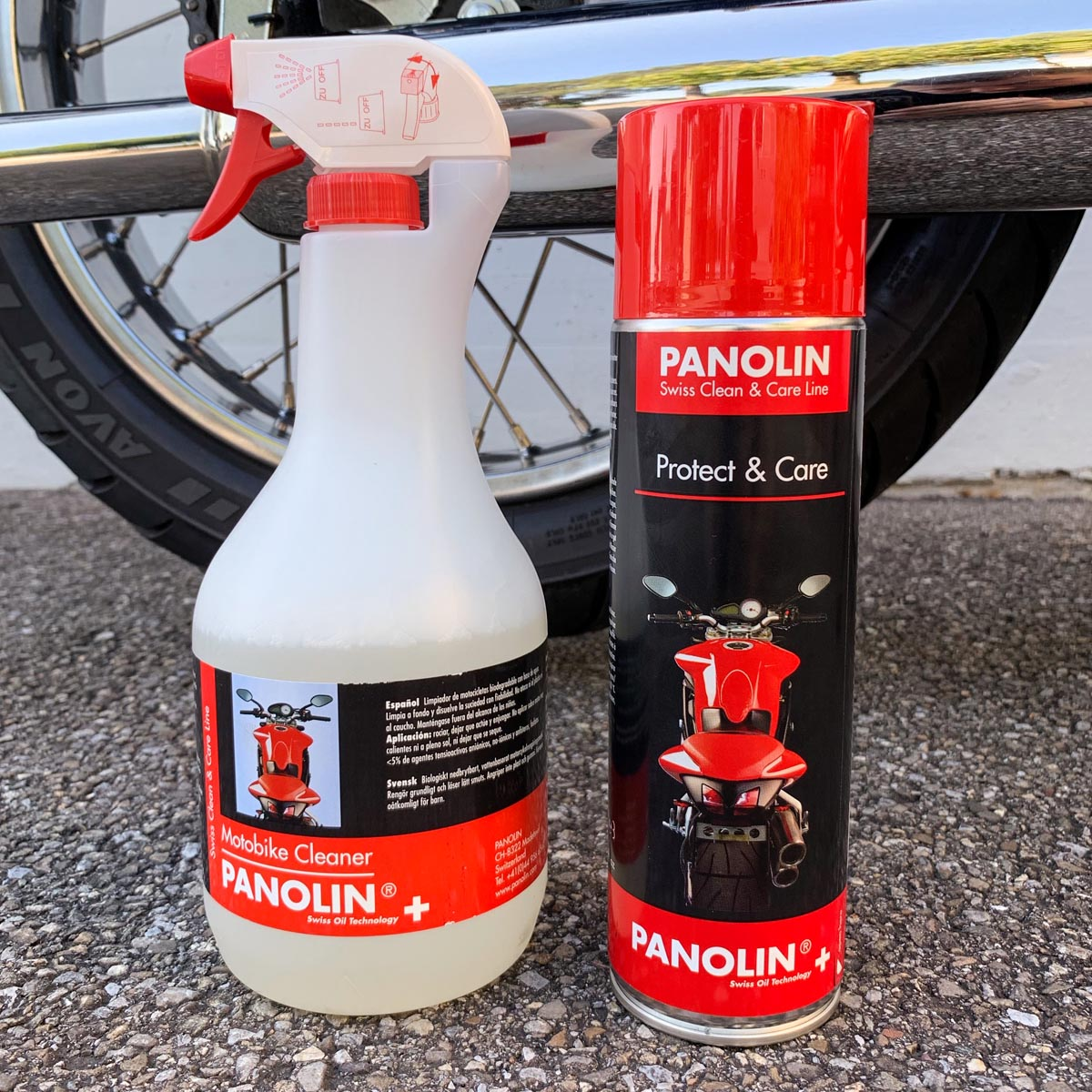 PANOLIN MOTOBIKE CLEANER & PANOLIN PROTECT & CARE Spray