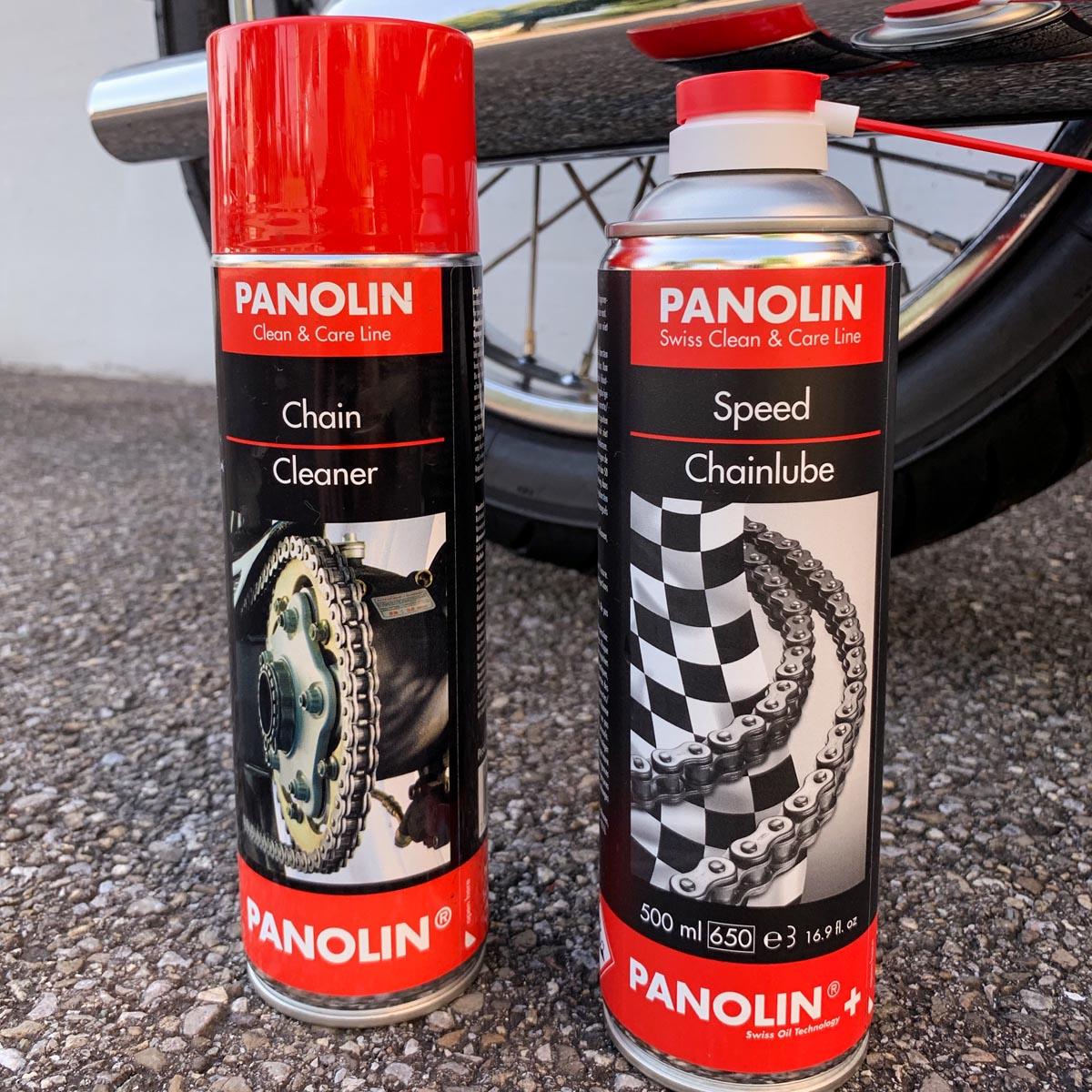 PANOLIN CHAIN CLEANER & PANOLIN SPEED CHAINLUBE Spray