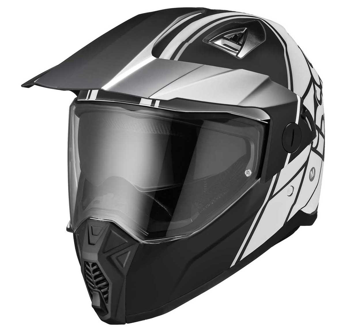 ENDUROHELM 208 2.0: On- und Offroad-Helm aus Polycarbonat mit Visier