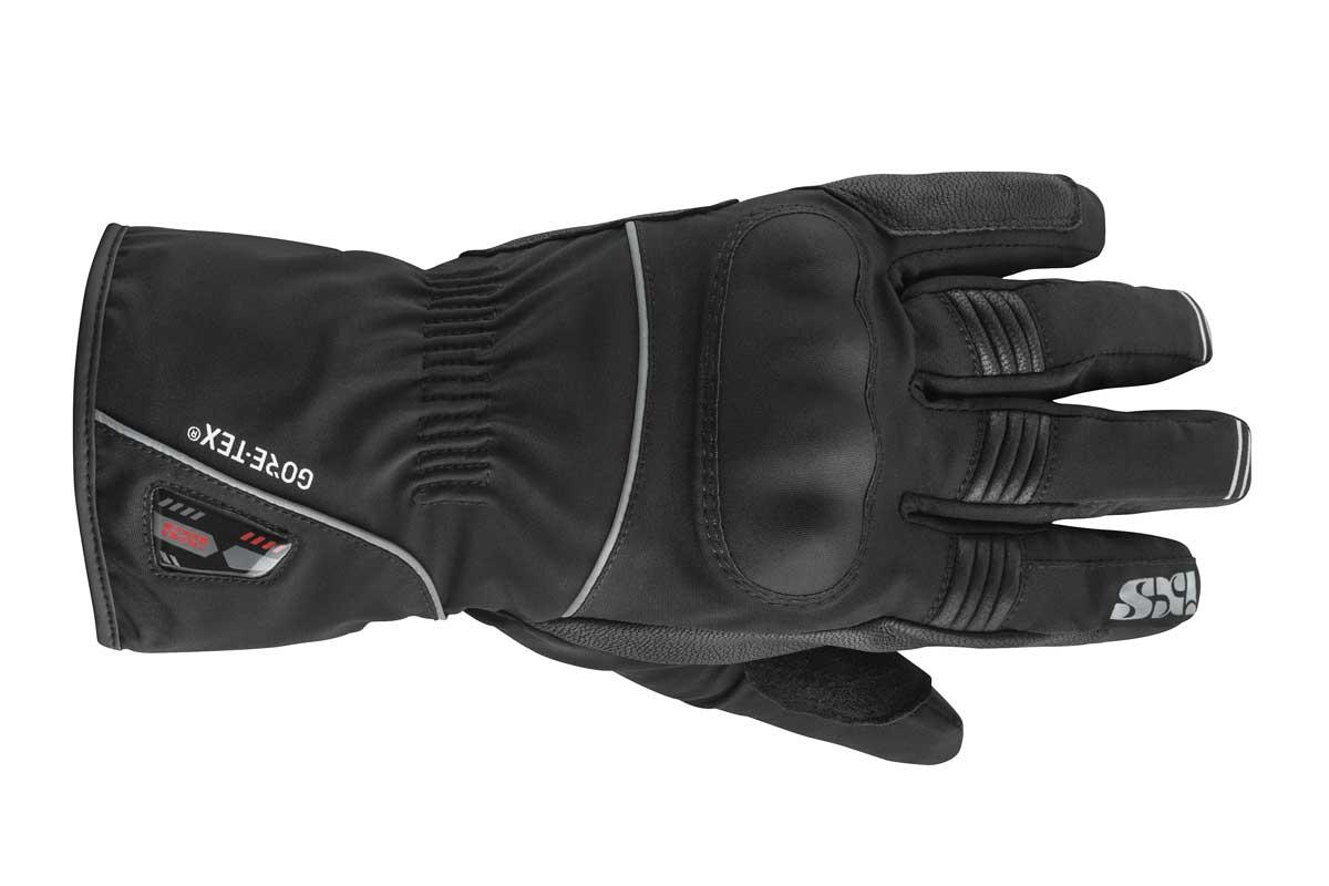 HANDSCHUHE GTX VERNON SCHWARZ: Winter-Handschuh aus Ziegenleder und Softshell Mix