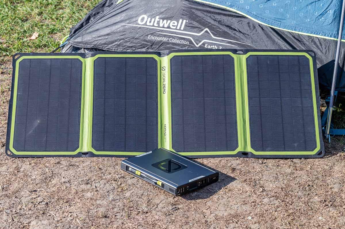 Solarpanel und Powerbank von GoalZero