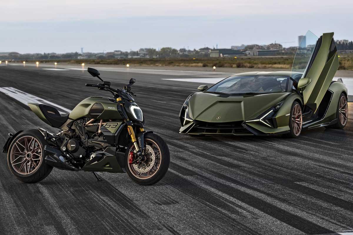 Die auf 630 Stück limitierte und mittlerweile ausverkaufte «Diavel 1260 Lamborghini» mit einer Lackierung im Lamborghini-Design.