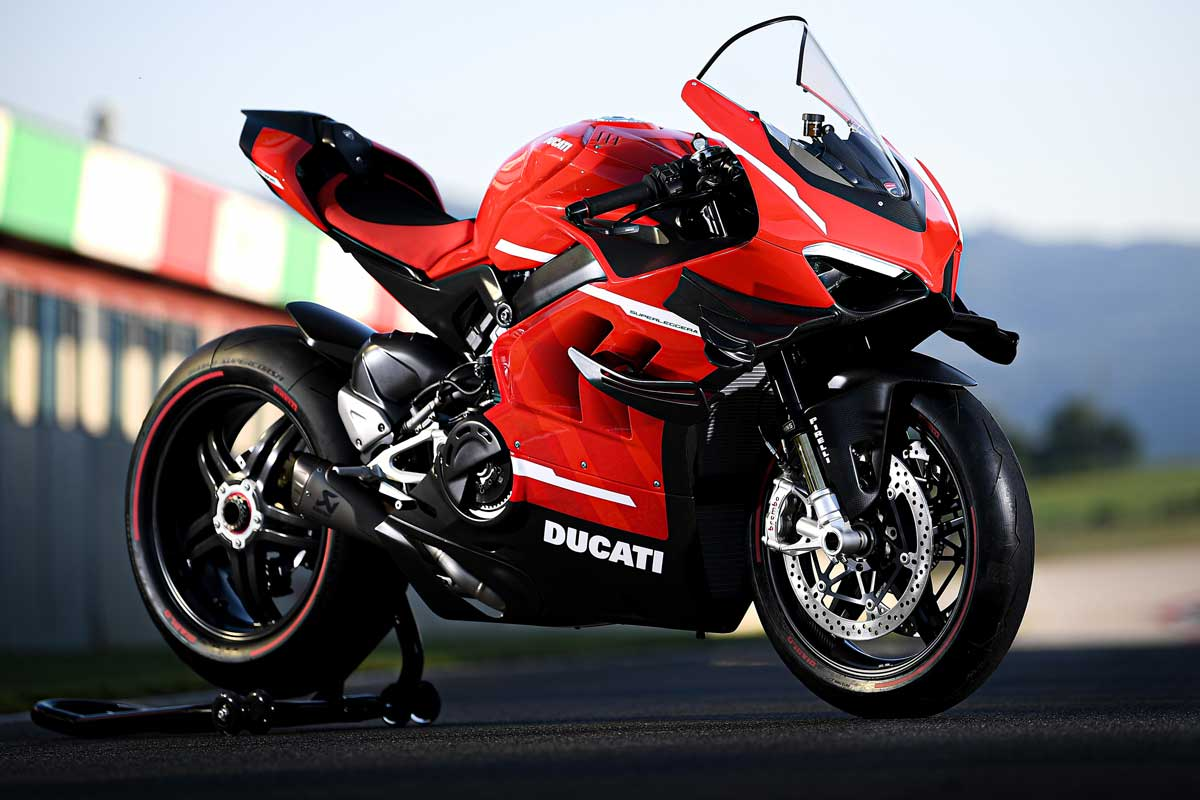 Die 234 PS starke und 152 kg federleichte «Panigale Superleggera V4» ist das stärkste Serienmotorrad der Welt.