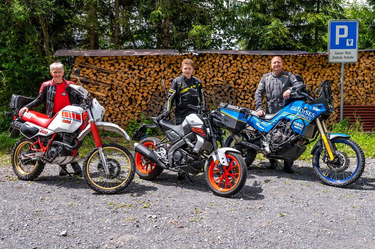 Andreas und Noah Morf mit Reto Richard (moto-lifestyle.ch)